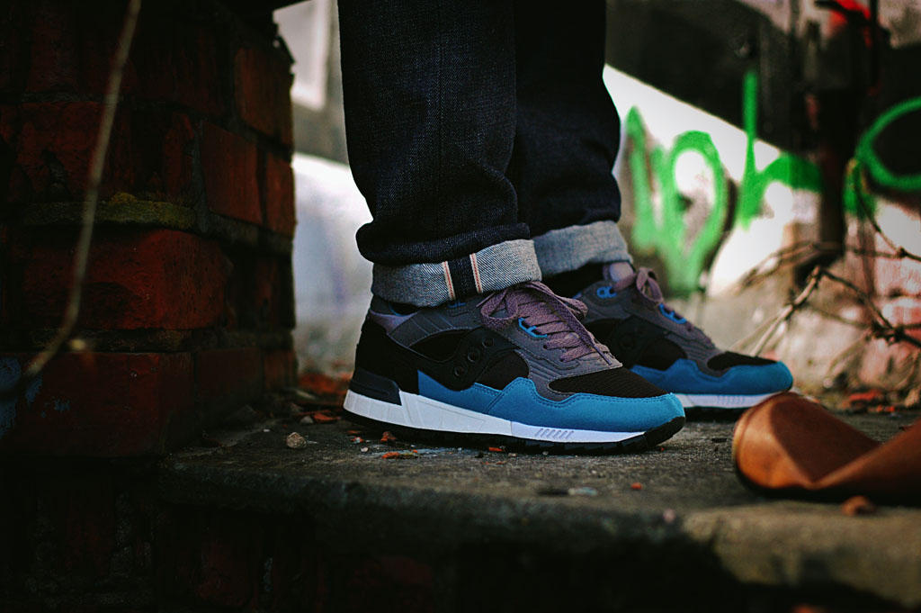 b_represent wearing the Solebox x Saucony Shadow 5000