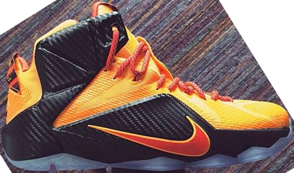 Nike LeBron 12 Laser Orange/Green Glow-Black