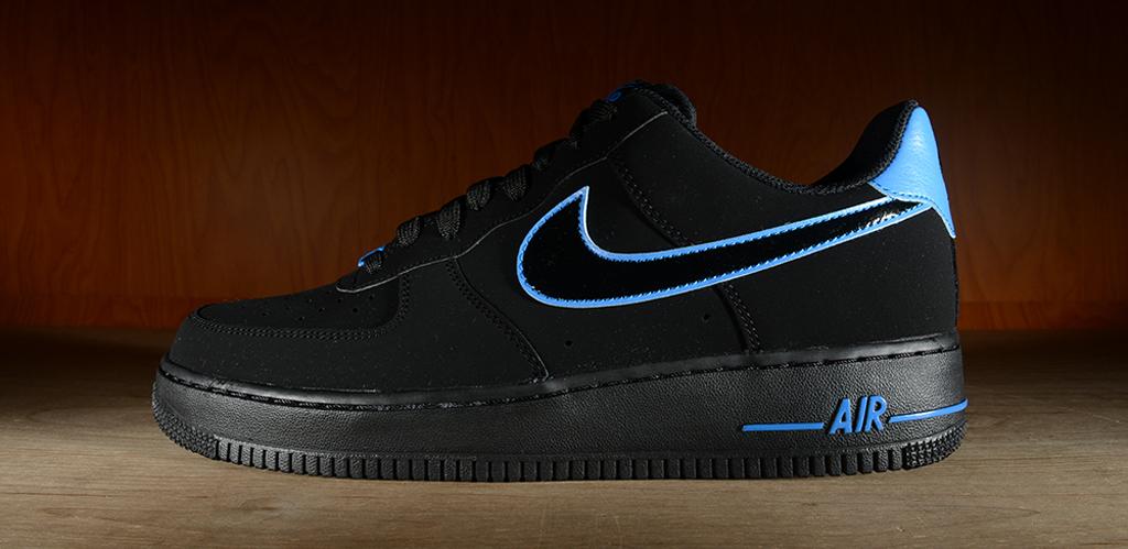 Nike Air Force 1 Faible Noir Et Bleu Coût iPdIhA1KT