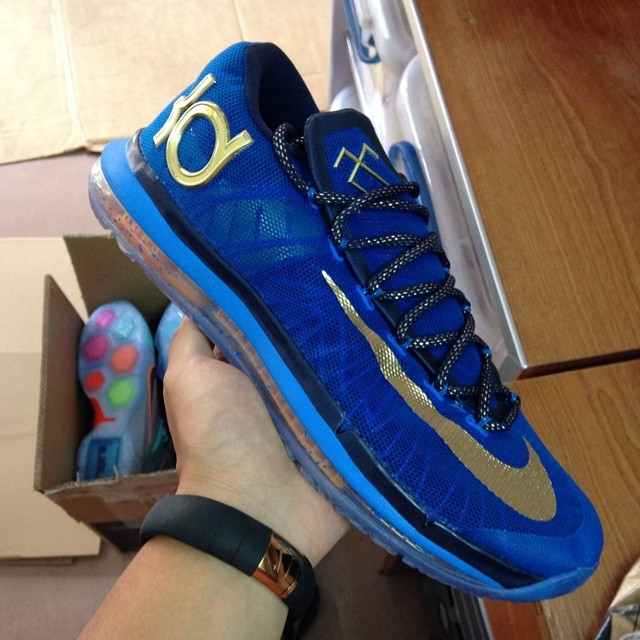 Nike KD VI 6 Elite Blue/Gold (1)