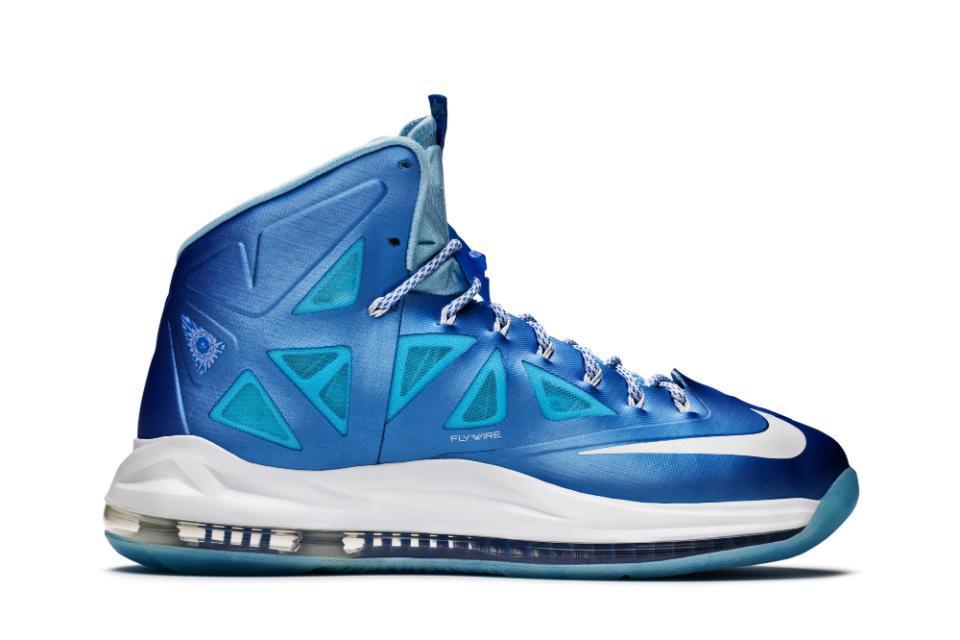 6ceb151ba6bf7 Nike Lebron X  Blue Diamond  Release Info