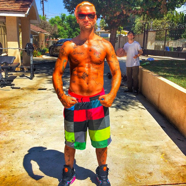 Riff Raff wearing Reebok Pump Omni Zone