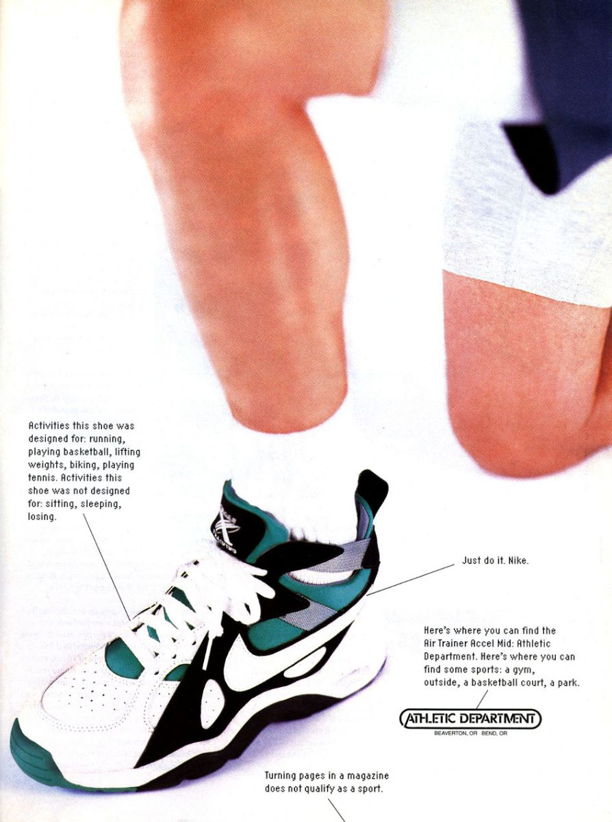 online store 28fa3 fbe76 Today s Vintage Ad takes a look at the Nike Air Trainer Accel from 1993.