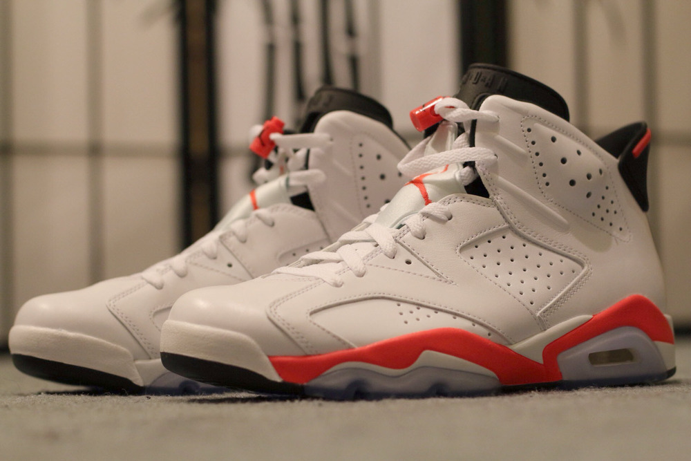 nike air jordan vi retro white infrared 6s