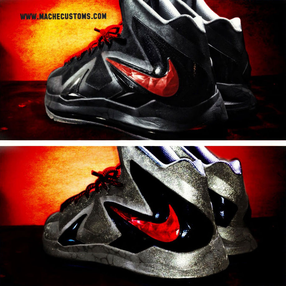 "Nike LeBron X PS Elite ""Killer Elite"" by Mache Custom Kicks (6)"