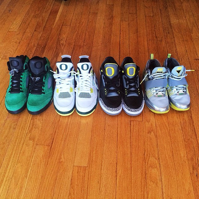 Macklemore Picks Up Oregon Air Jordan 3, 4, 5, Zoom Revis