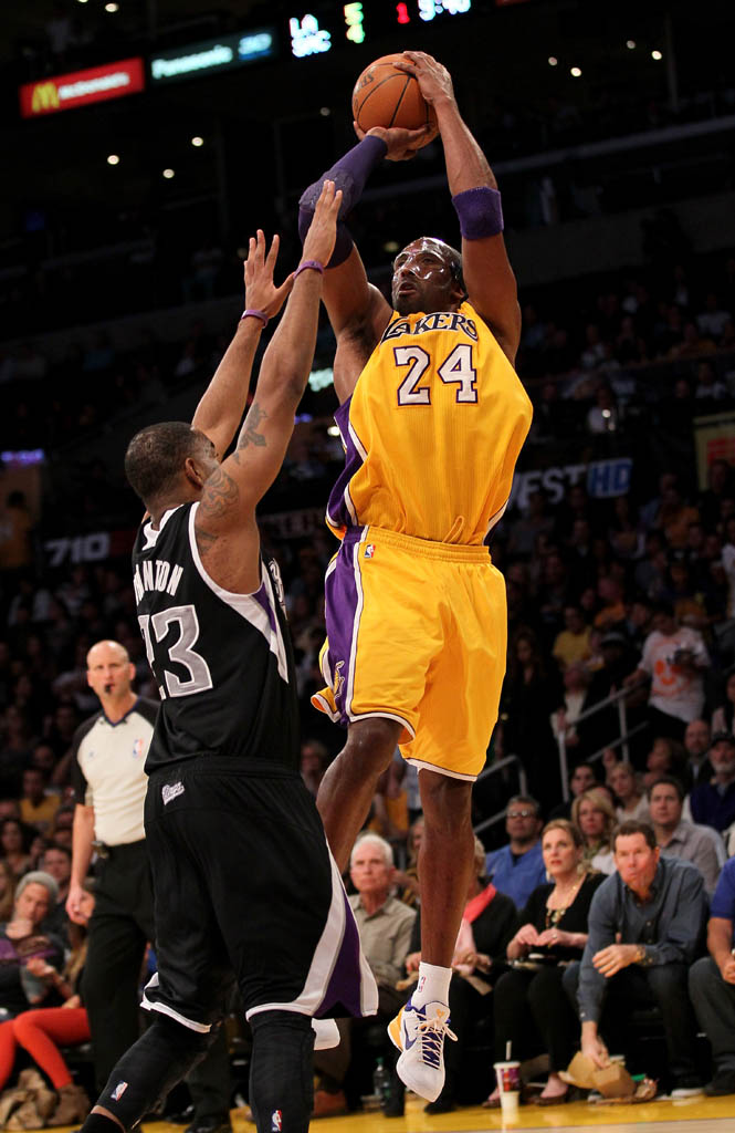 Kobe Bryant wearing Nike Kobe VII 7 Lakers Home (4)
