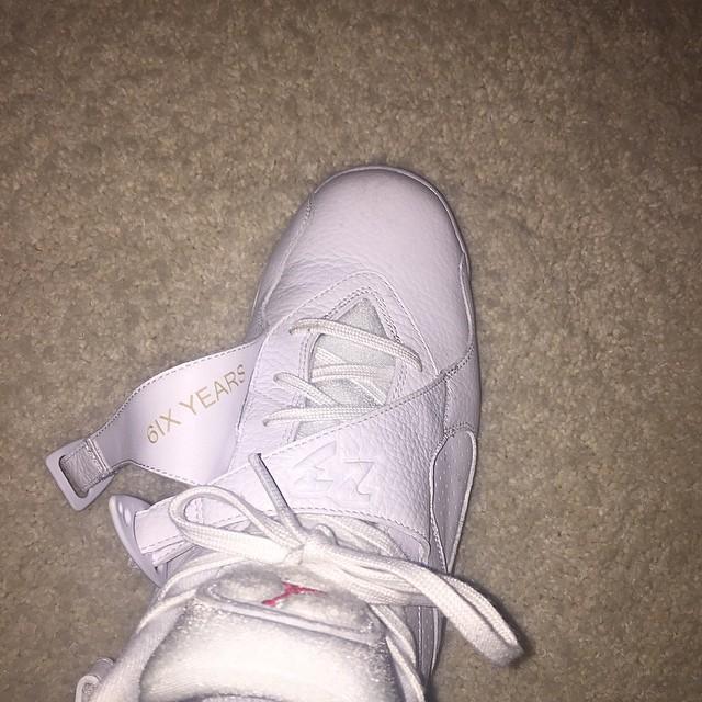 best sneakers cd316 79b75 Drake OVO Air Jordan 8 White (1)