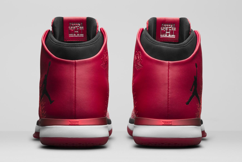 948870a42588 Image via Nike Chicago Air Jordan 31 845037-600 Heel