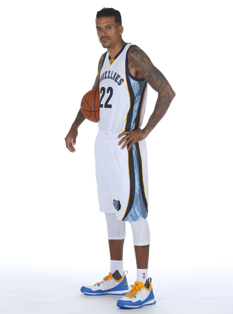 Matt Barnes wearing the 'UCLA' adidas D Lillard 1