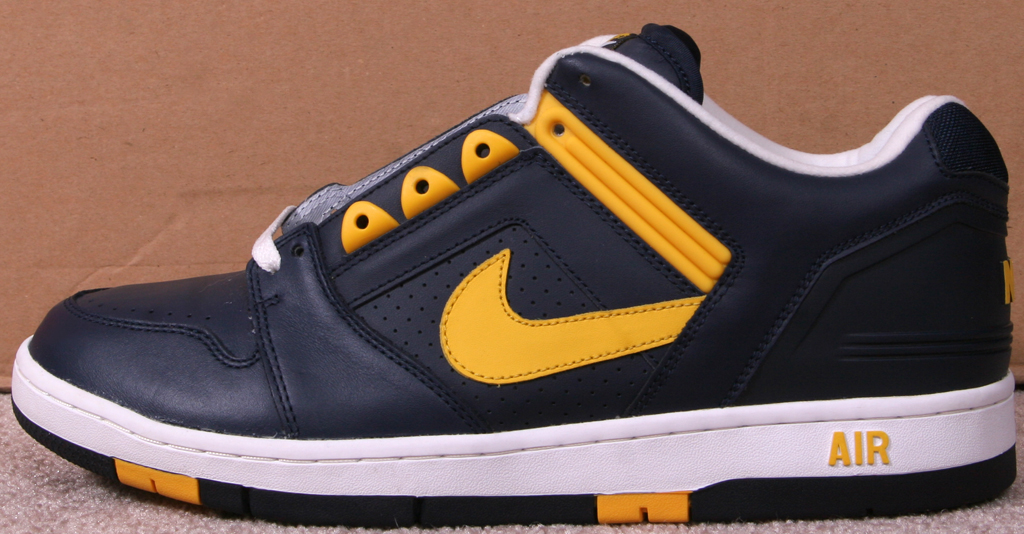 timeless design 93db7 4de10 Nike Air Force 2 Low Michigan. Style Code 305602-471. Colorway College  NavyVarsity Maize-White Year 2003