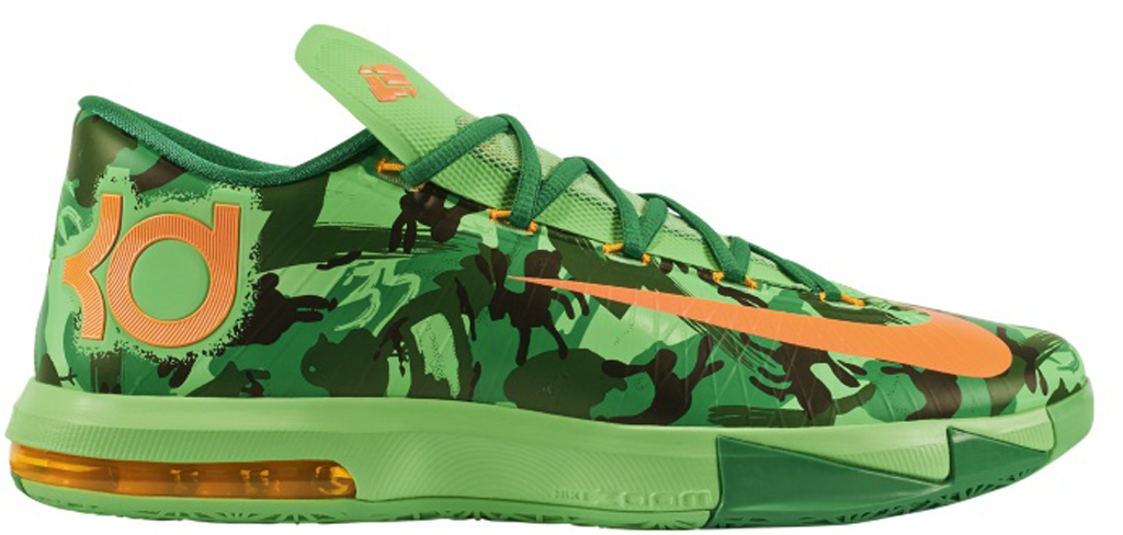 383136024c69 Nike KD VI  Easter Camo  599424-303 Light Lucid Green Atomic Mango-Light  Lucid Green-Gorge Green-Black