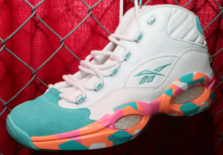 f8e737d36513 Reebok Question - White Teal-Orange-Pink