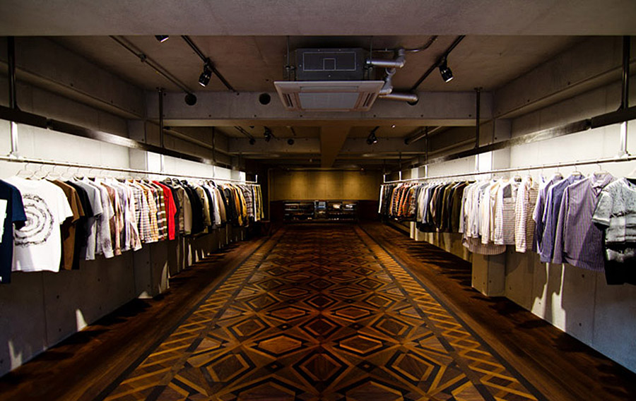 White Mountaineering Tokyo flagship via Retail Design Blog