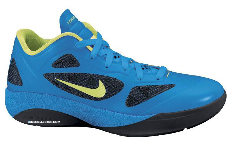 Nike Zoom Hyperfuse 2011 Low Photo Blue Volt Black 454137-400
