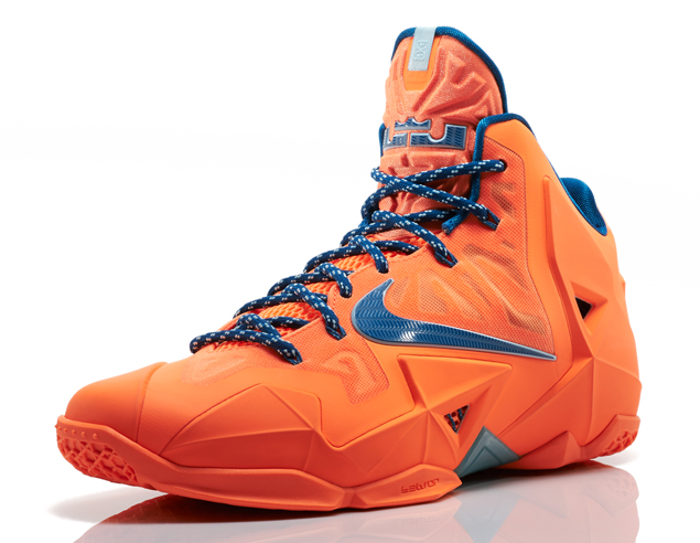 Nike LeBron 11 in Atomic Orange Green Abyss and Glacier Ice