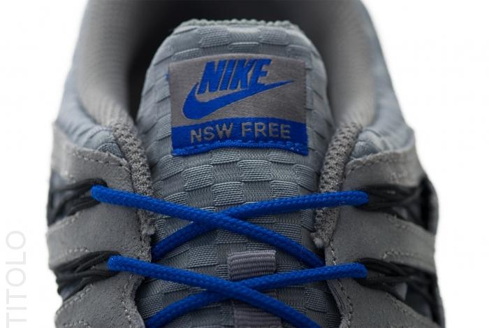 Nike Free 5.0+ EXT Woven Cool Grey Black Hyper Blue