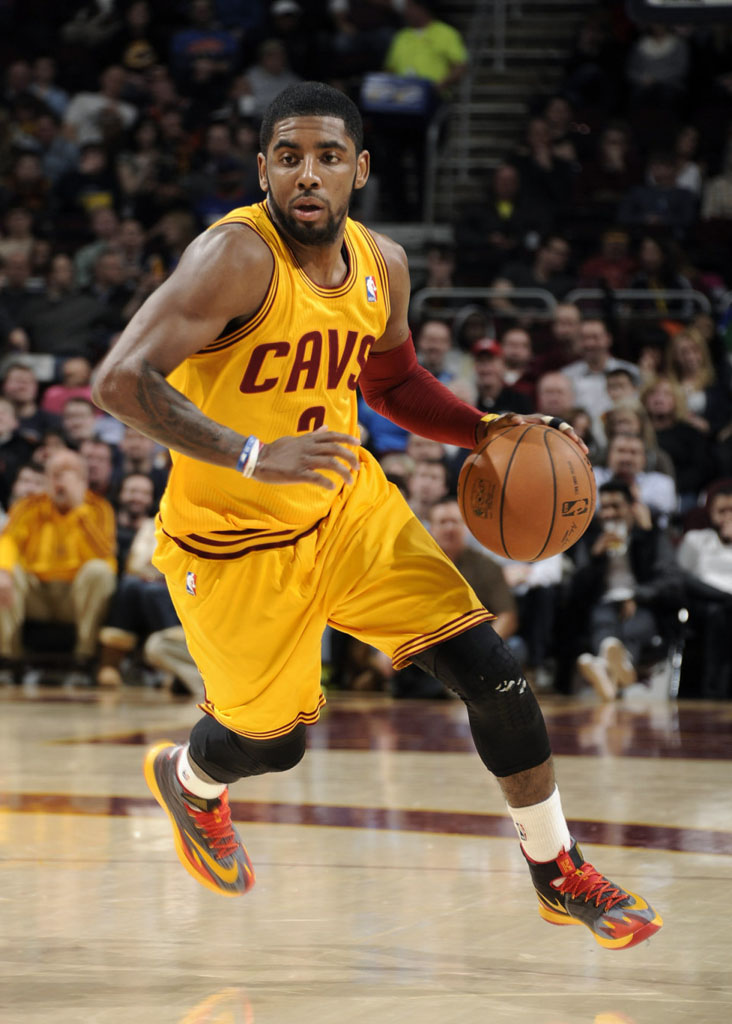 Kyrie Irving wearing Nike Zoom HyperRev Away PE
