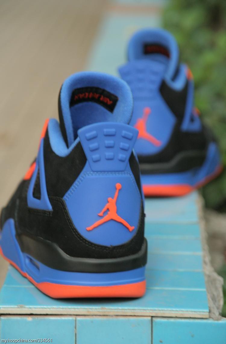 cd4e474599df Air Jordan 4 IV Cavs Knicks Shoes Black Orange Blaze Old Royal 308497-027 (