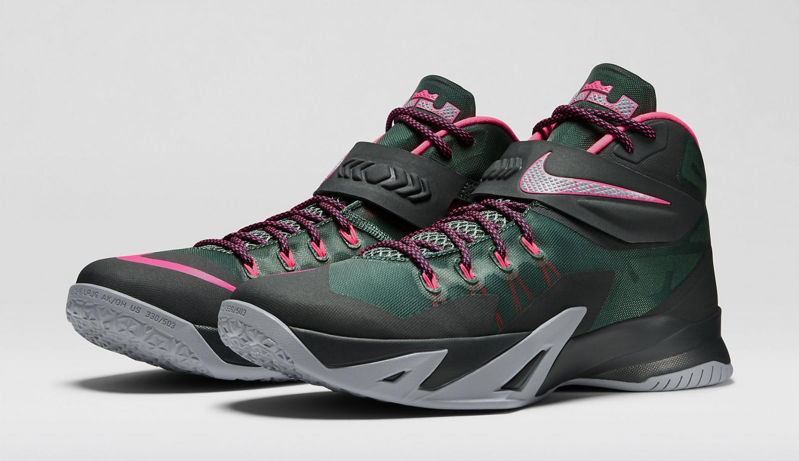 new product d782d db430 The Nike Zoom Soldier 8 in Black and Hyper Punch