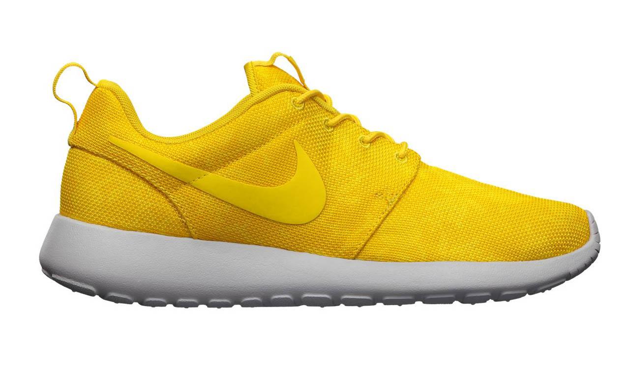 womens nike roshe run floral gold yellow