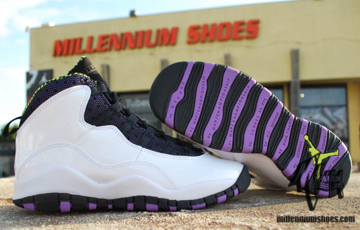 online store 333c3 7a7ca Air Jordan Retro 10 GS - White/Violet Pop-Cyber-Black | Sole ...