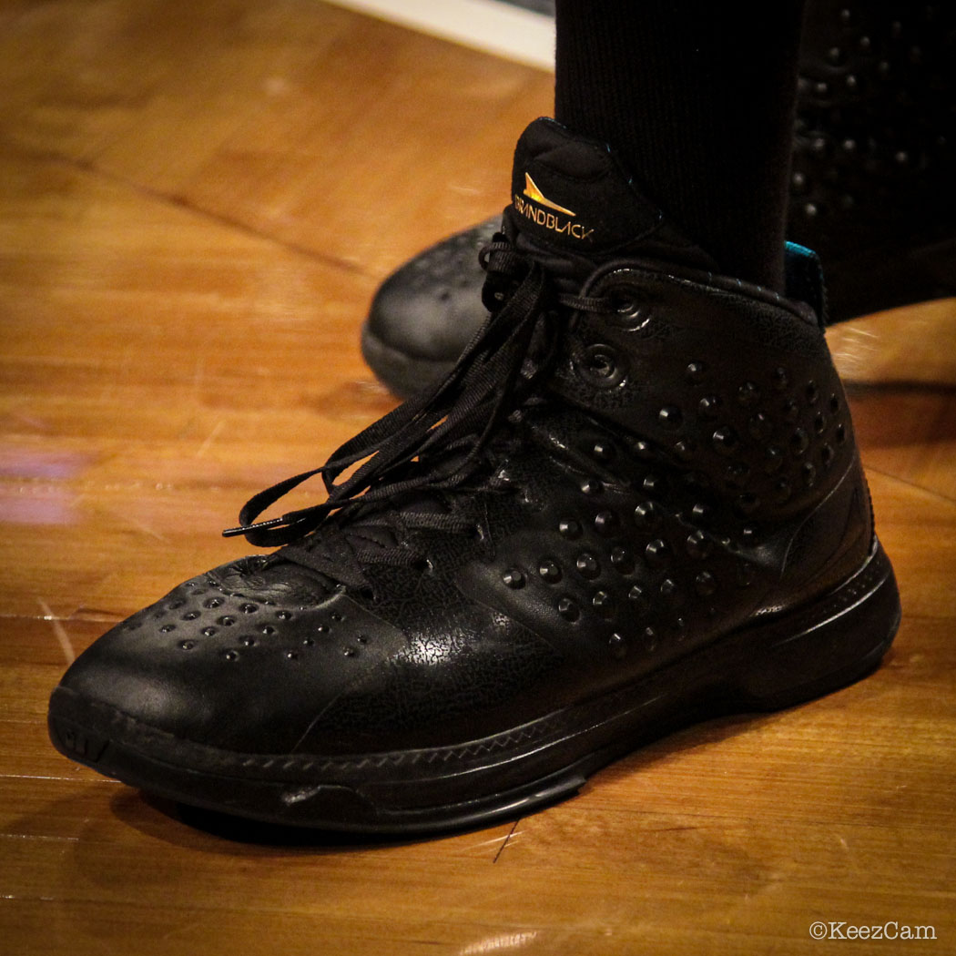 SoleWatch // Up Close At Barclays for Nets vs Clippers - Jamal Crawford wearing BrandBlack Raptor
