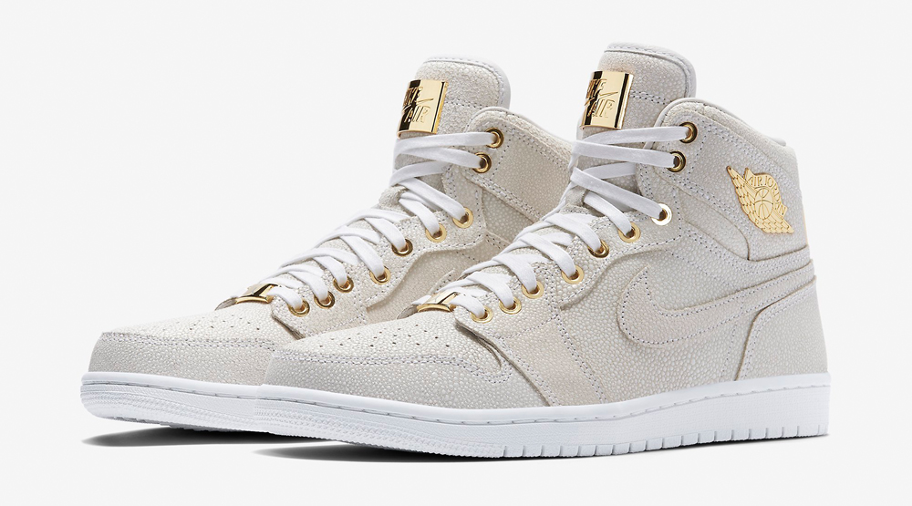 air jordan 1 pinnacle white and gold
