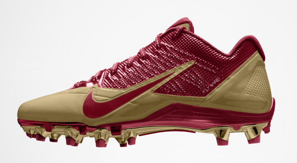 Nike Alpha Pro Cleats for San Francisco 49ers (1)