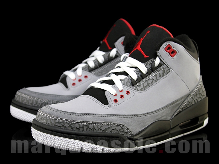 new product 789b7 78aea ... Air Jordan Retro 3 Stealth Varsity Red Light Graphite Black 136064-003  ...