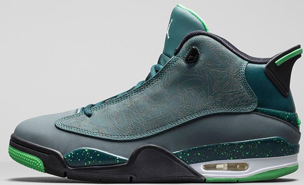 d10815671f3 Jordan Dub Zero 311046-330 Teal/Blue-Graphite-Black-Light Green Spark
