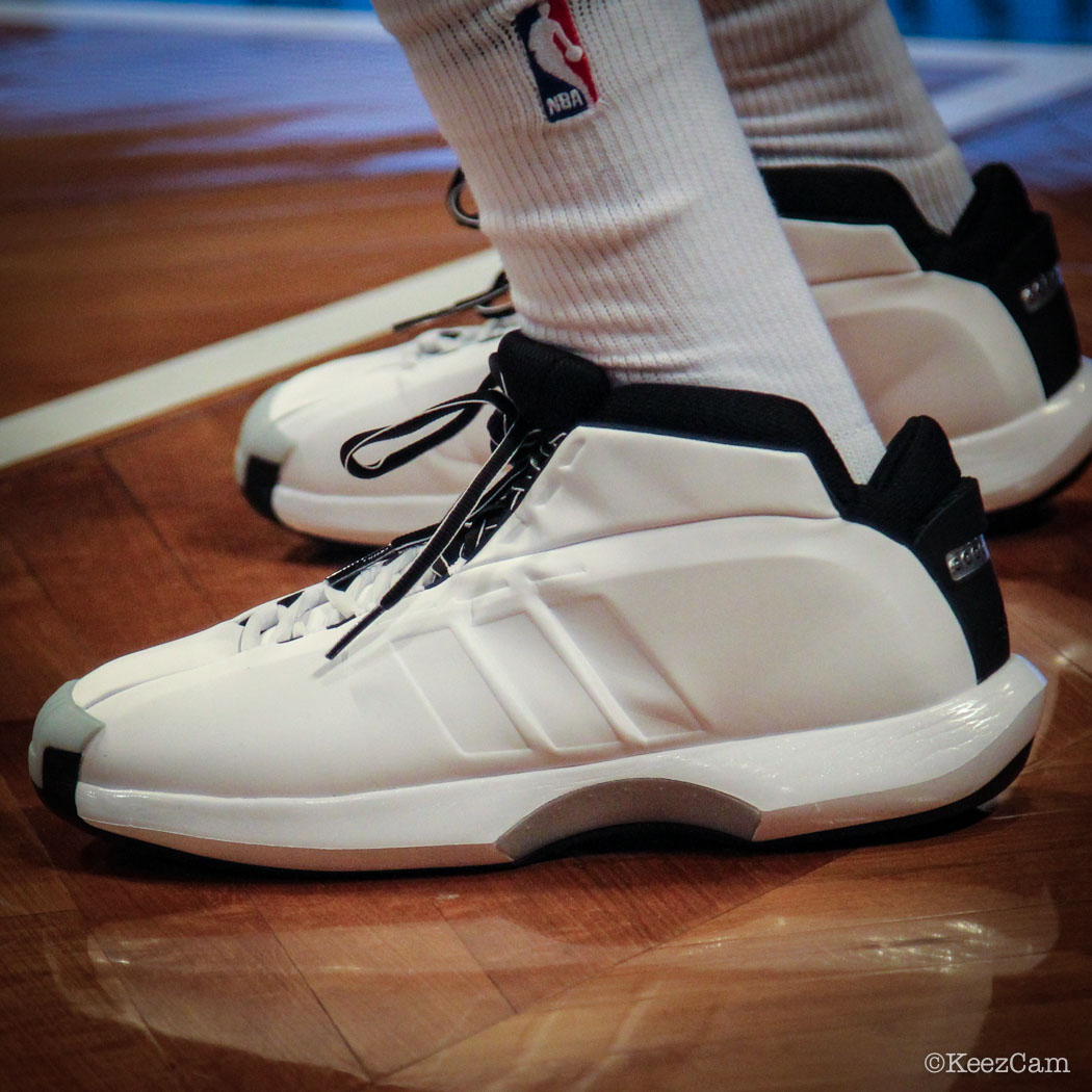 Sole Watch // Up Close At Barclays for Nets vs Bucks - Tyshawn Taylor wearing adidas Crazy 1