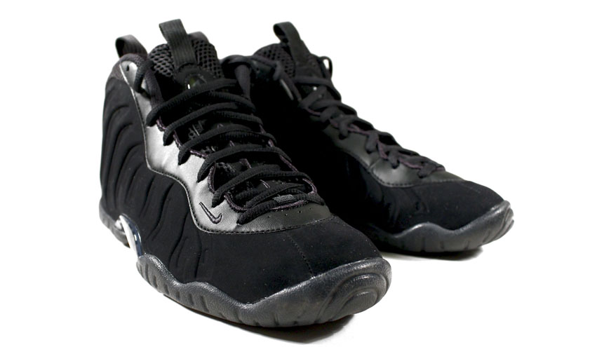 Nike Little Posite One Black Suede 644791-003 (2)