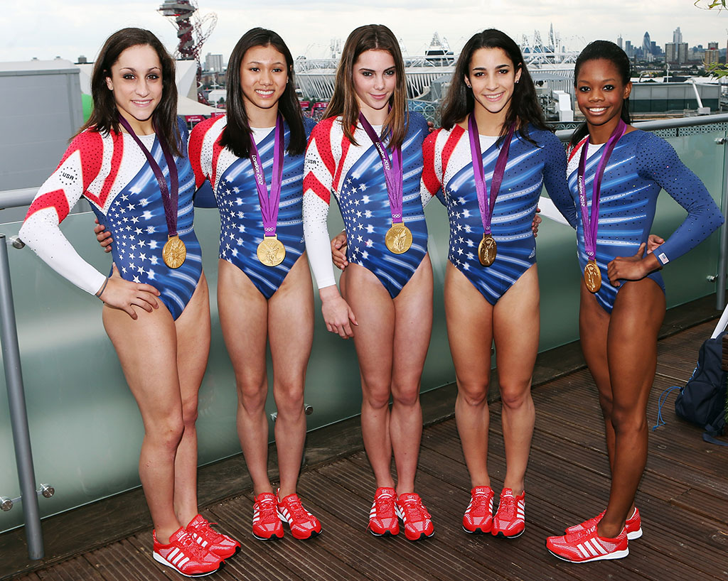 U.S. Women's Gymnastics Team Stops by adidas Lounge in Primeknit Sneakers  (1)
