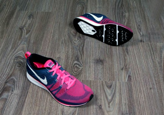 02e1d2e80289 Nike Flyknit Trainer+ - Squadron Blue Pink Flash