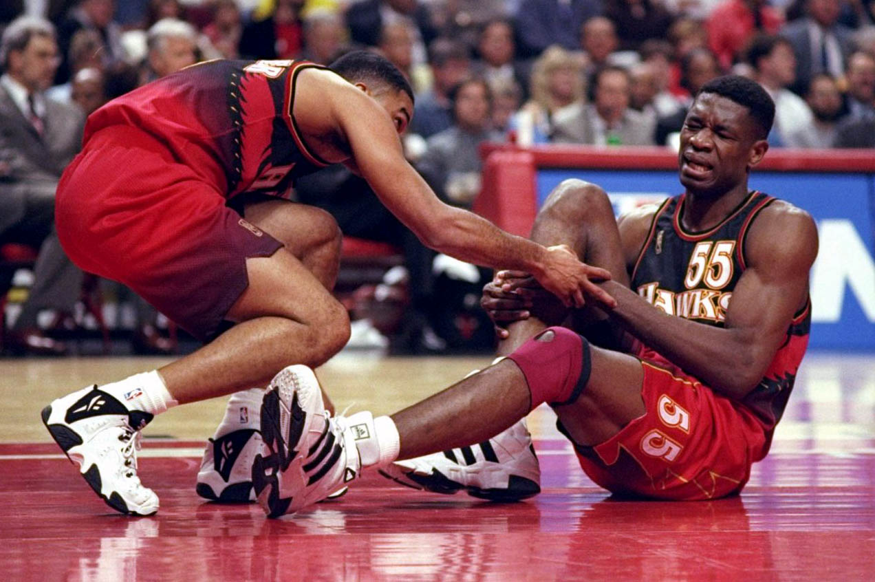 Dikembe Mutombo Shoe Size.Flashback Best Shoes Worn With The Original Atlanta Hawks