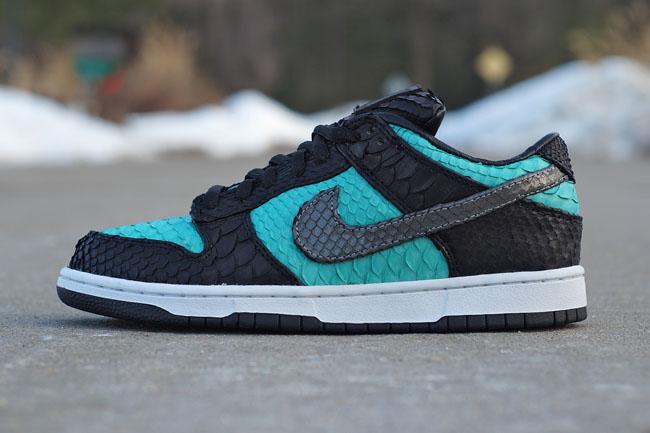 online store 819a7 69dee Nike SB Dunk Low 'Tiffany' By JBF Customs | Sole Collector