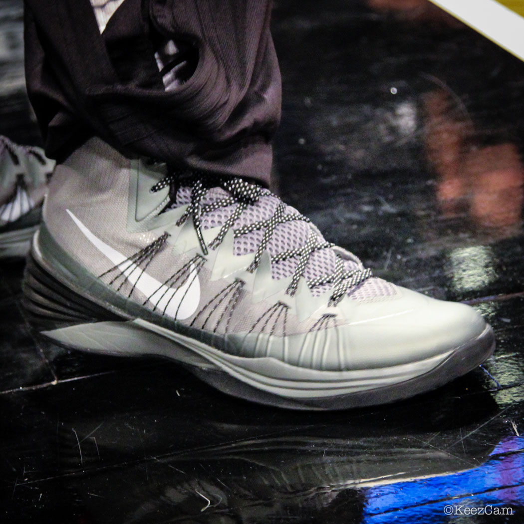 SoleWatch // Up Close At Barclays for Nets vs Clippers - Mason Plumlee wearing Nike Hyperdunk 2013