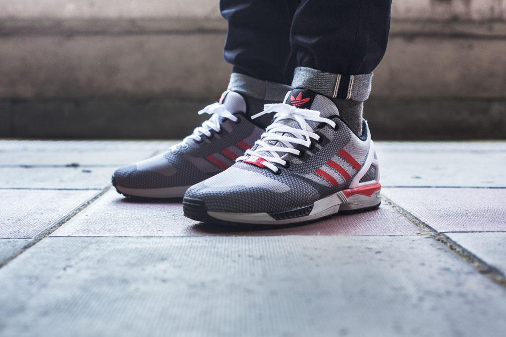 Adidas Zx Flux Grey On Feet