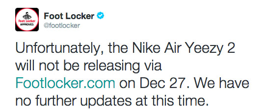 You Ain't Got No Yeezy? Foot Locker Backtracks on 'Red October' Release Date