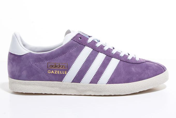 adidas gazelle purple suede