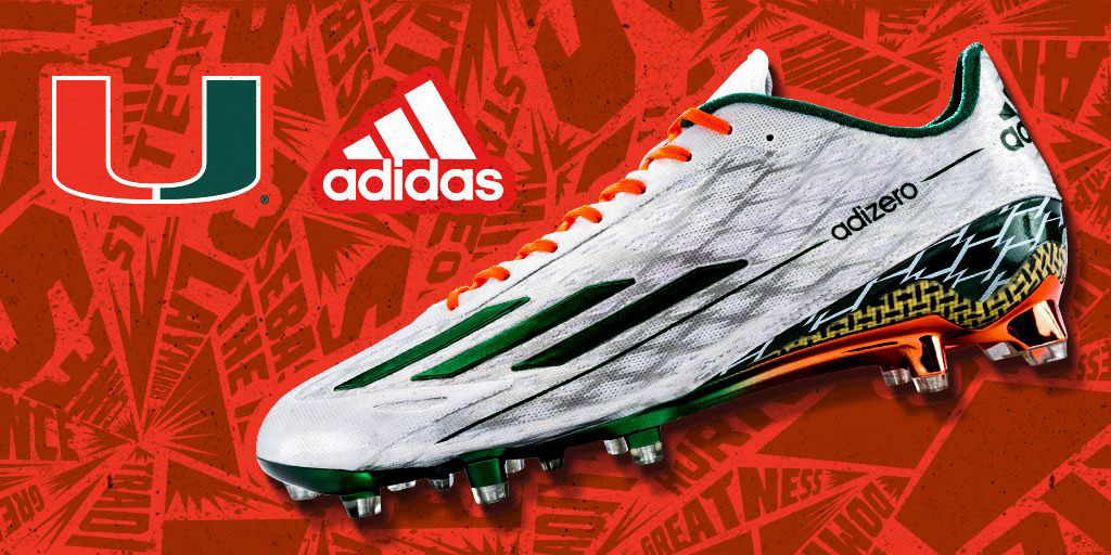 042d12f330a Two Cleat Options Highlight the Miami Hurricanes  New adidas ...