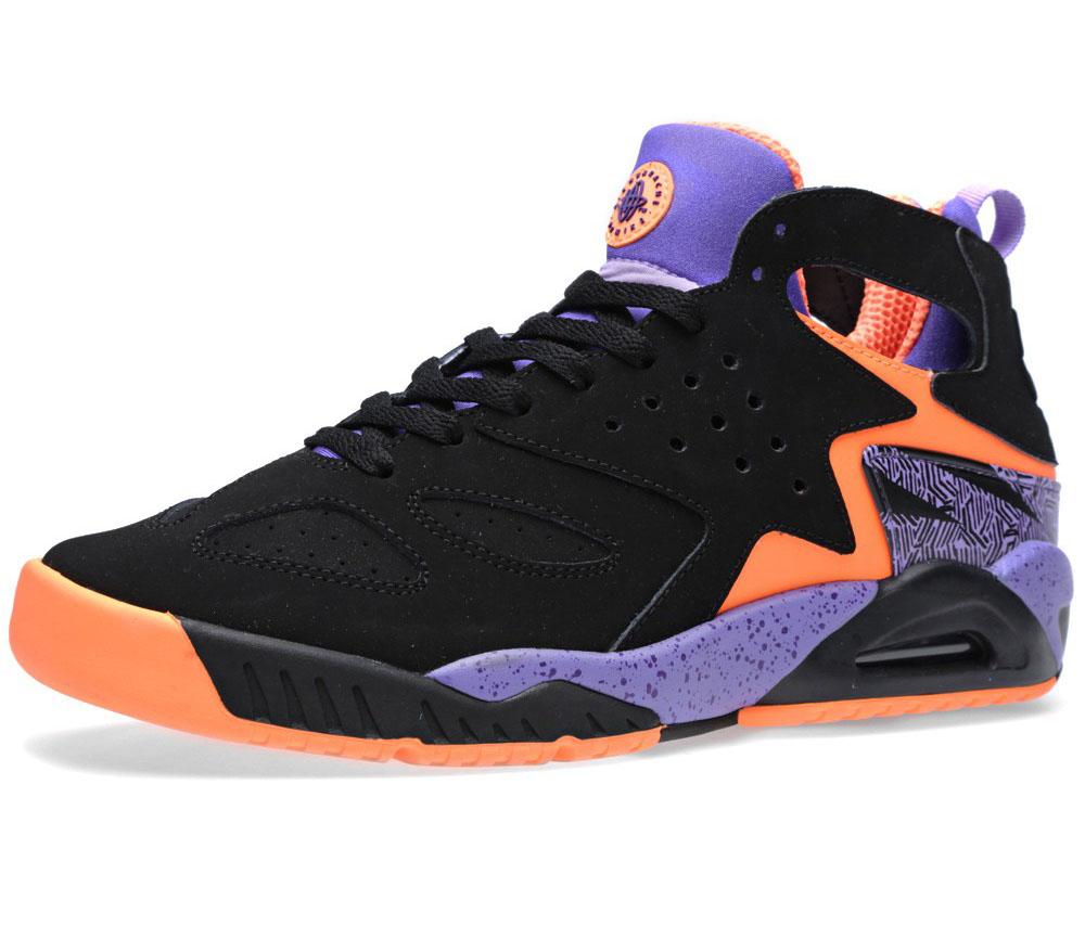 nike air tech challenge huarache black purple orange