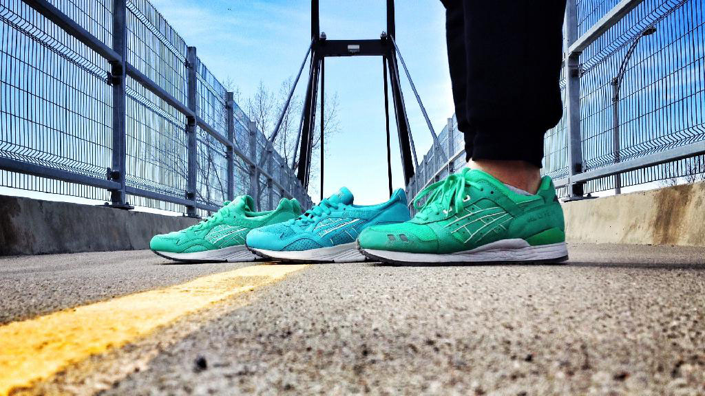 Spotlight: Forum Staff Weekly WDYWT? - 4.20.14 - Shooter wearing Ronnie Fieg x ASICS GEL-Lyte III Mint Leaf