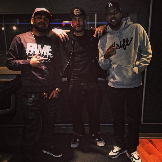 DJ Drama wearing Air Jordan 4 Fear