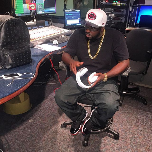 DJ Funk Flex wearing the 'Bred' Air Jordan 11