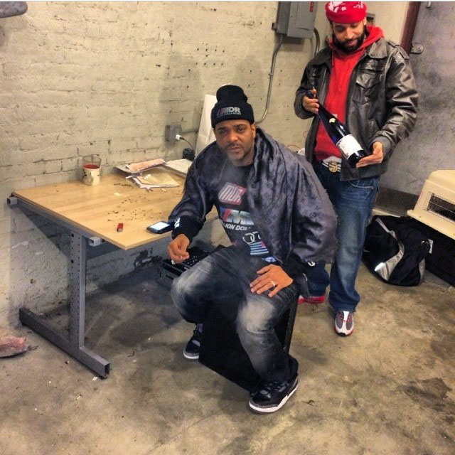 Jim Jones wearing Air Jordan 3 Black Cement