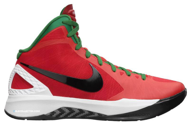 huge selection of 4a0f3 d9fd2 Nike Zoom Hyperdunk 2011 Challenge Red Black White Pine Green 454138-600