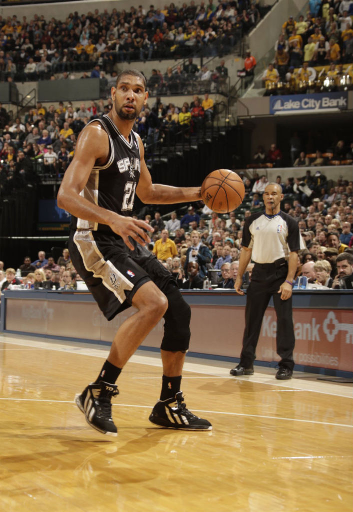 Tim Duncan wearing adidas Flight Path PE