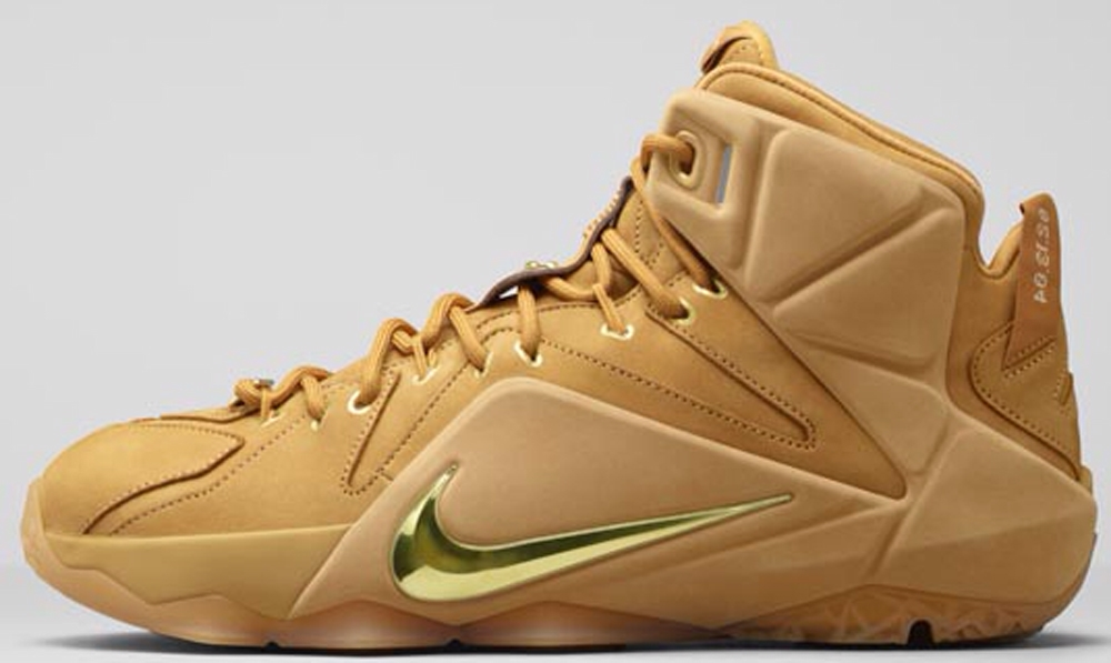 Nike LeBron 12 EXT QS Wheat/Metallic Gold-Wheat